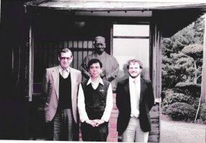 Samuel Jones Pearls. Richard with Sir Murray Fox in Japan in 1980