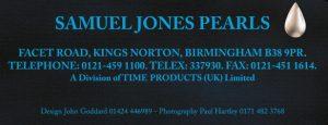 A Samuel Jones Pearls address from 1992
