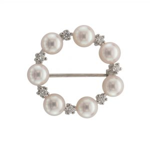 Cultured Pearl Brooch