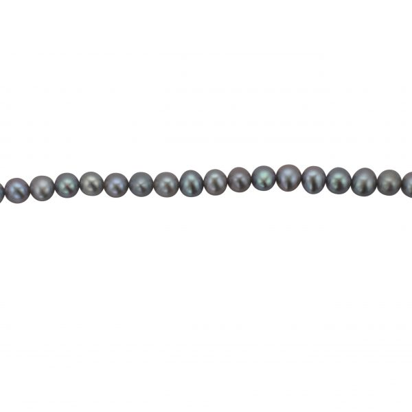 Grey Freshwater Pearl Necklace Row