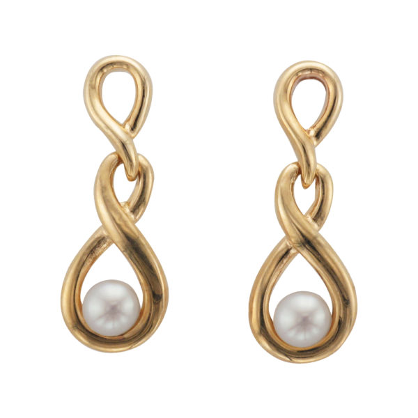 9CTY Gold Freshwater Pearl Earring