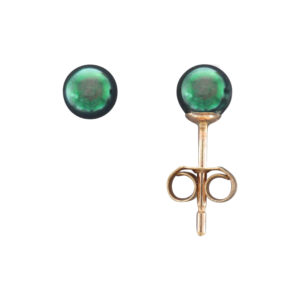 4.5MM BLACK AKOYA PEARL STUD EARRING
