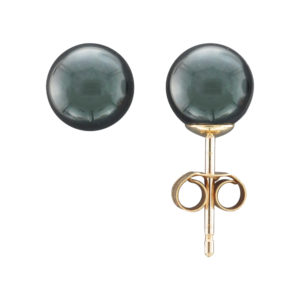 7MM BLACK AKOYA PEARL STUD EARRING