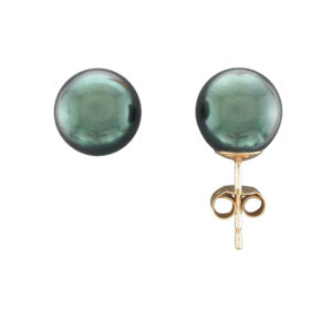 9MM BLACK AKOYA PEARL STUD EARRING