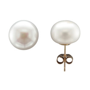 10MM FRESHWATER PEARL STUD EARRING 9CTY