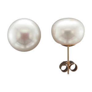 11MM FRESHWATER PEARL STUD EARRING 9CTY
