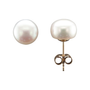 8MM FRESHWATER PEARL STUD EARRING 9CTY