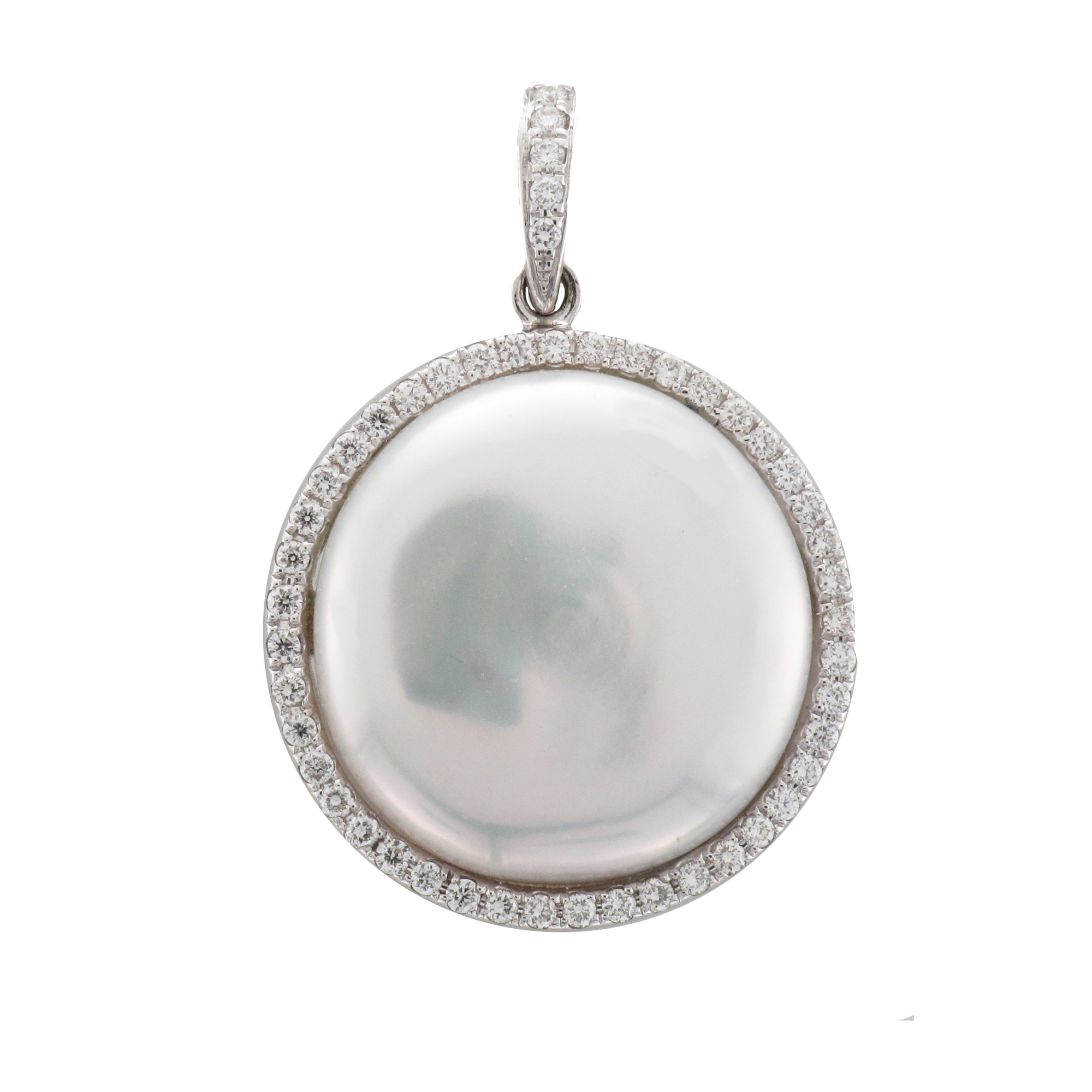 18CTW SOUTH SEA PEARLBIWA PENDANT DIA 0.26CT