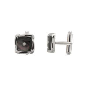 Silver & Diamond Cufflink